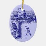 Vintage Alice in Wonderland Christmas Tree Ornaments