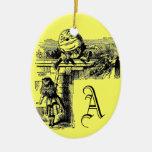 Vintage Alice in Wonderland Christmas Tree Ornament