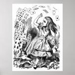 Vintage Alice in Wonderland Pack of cards Posters