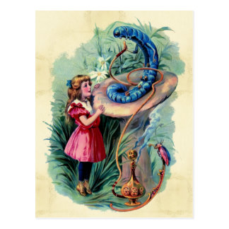 Vintage Alice In Wonderland Postcard