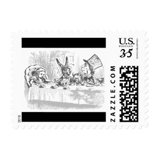 Vintage Alice in Wonderland Postcard Postage Stamp