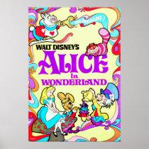 Vintage Alice In Wonderland Poster