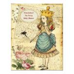 Vintage Alice in Wonderland Princess Baby Shower Custom Invitation
