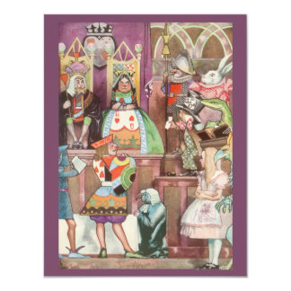 Vintage Alice in Wonderland, Queen of Hearts 4.25x5.5 Paper Invitation Card