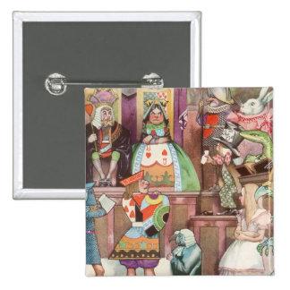 Vintage Alice in Wonderland, Queen of Hearts Pins