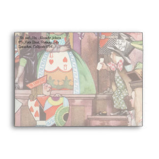 Vintage Alice in Wonderland, Queen of Hearts Envelope