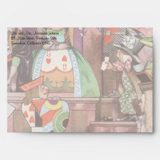 Vintage Alice in Wonderland, Queen of Hearts Envelope