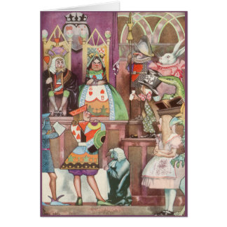 Vintage Alice in Wonderland, Queen of Hearts Greeting Card