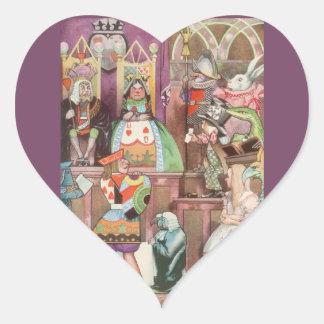 Vintage Alice in Wonderland, Queen of Hearts Heart Sticker