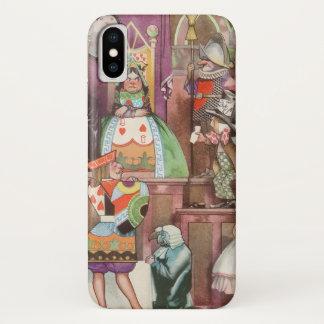 Vintage Alice in Wonderland, Queen of Hearts iPhone X Case