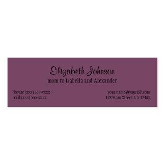 Vintage Alice in Wonderland, Queen of Hearts Mini Business Card