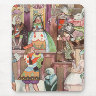 Vintage Alice in Wonderland, Queen of Hearts Mouse Pad