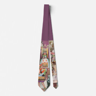 Vintage Alice in Wonderland, Queen of Hearts Neck Tie
