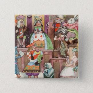 Vintage Alice in Wonderland, Queen of Hearts Pinback Button