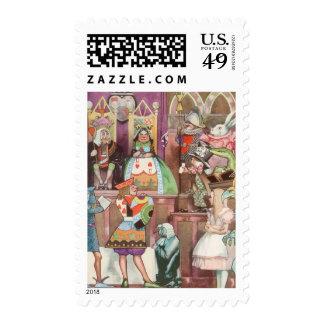 Vintage Alice in Wonderland, Queen of Hearts Stamp