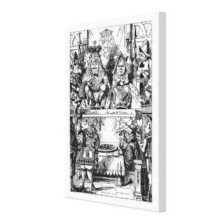 Vintage Alice in Wonderland, Queen of Hearts Trial Canvas Print
