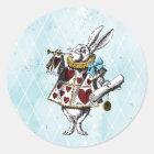 Vintage Alice in Wonderland Rabbit Classic Round Sticker