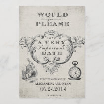 Vintage Alice in Wonderland Save the Date