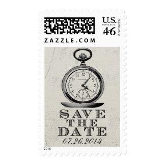 Vintage Alice in Wonderland Save the Date Postage