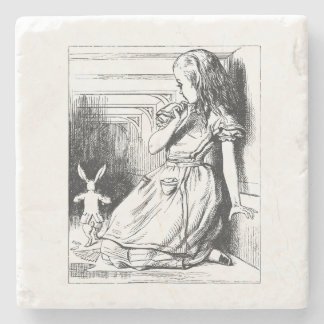 Vintage Alice in Wonderland Stone Coaster
