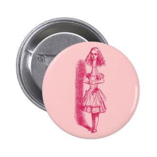 Vintage Alice in Wonderland Stretched Button