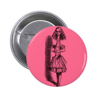 Vintage Alice in Wonderland Stretched Pinback Button