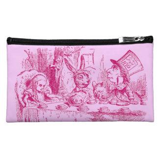Vintage Alice in Wonderland Tea Party Makeup Bags