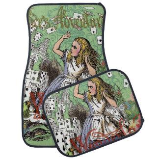 Vintage Alice in Wonderland Tea party Cards Car Mat