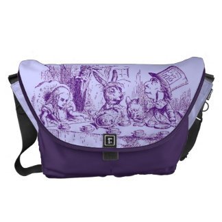 Vintage Alice in Wonderland Tea Party Courier Bag