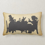 Vintage Alice in Wonderland Tea Party Cushion Throw Pillow