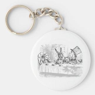 Vintage Alice in Wonderland Tea Party Keychain