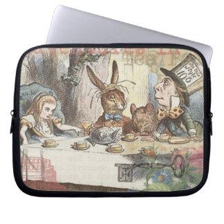 Vintage Alice in Wonderland Tea Party Laptop Sleeve