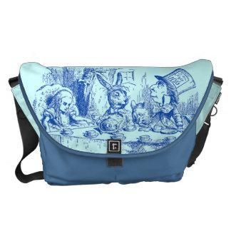 Vintage Alice in Wonderland Tea Party Messenger Bag