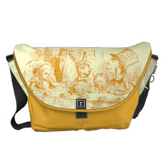 Vintage Alice in Wonderland Tea Party Courier Bag