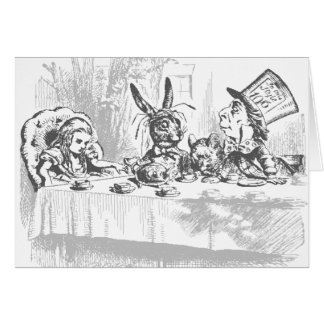 Vintage Alice in Wonderland Tea Party Note Cards