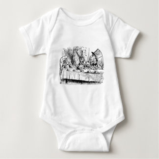 Vintage Alice in Wonderland, Tea Party Scene Baby Bodysuit
