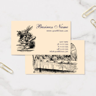 Vintage Alice in Wonderland, Tea Party Scene Business Card
