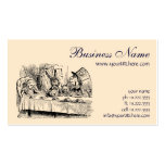 Vintage Alice in Wonderland Tea Party Scene Business Card Template