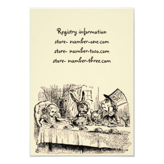 Vintage Alice in Wonderland, Tea Party Scene Card