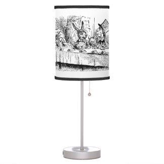 Vintage Alice in Wonderland, Tea Party Scene Desk Lamp