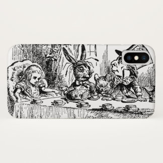 Vintage Alice in Wonderland, Tea Party Scene iPhone X Case