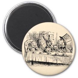 Vintage Alice in Wonderland, Tea Party Scene Magnet