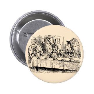 Vintage Alice in Wonderland, Tea Party Scene Pinback Button