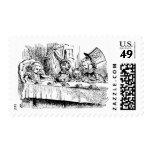 Vintage Alice in Wonderland, Tea Party Scene Postage Stamps