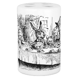 Vintage Alice in Wonderland, Tea Party Scene Soap Dispenser & Toothbrush Holder