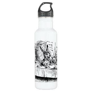 Vintage Alice in Wonderland, Tea Party Scene Stainless Steel Water Bottle