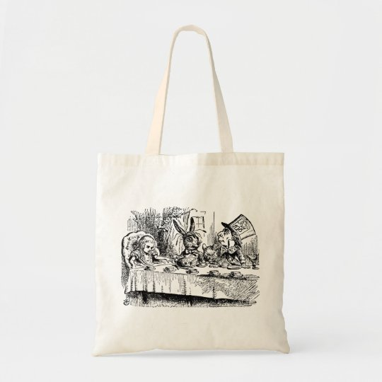 Vintage Alice in Wonderland, Tea Party Scene Tote Bag