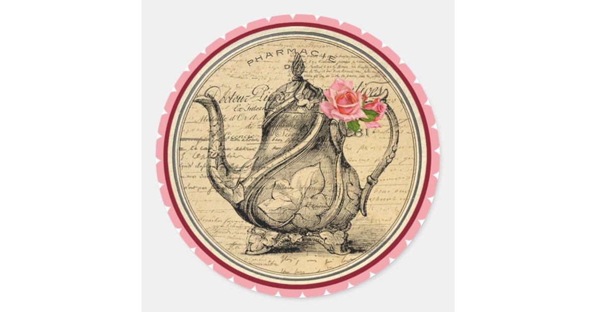 Vintage Alice in Wonderland Tea Party Stickers | Zazzle.com