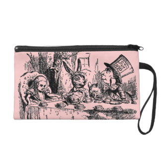 Vintage Alice in Wonderland Tea Party Wristlet