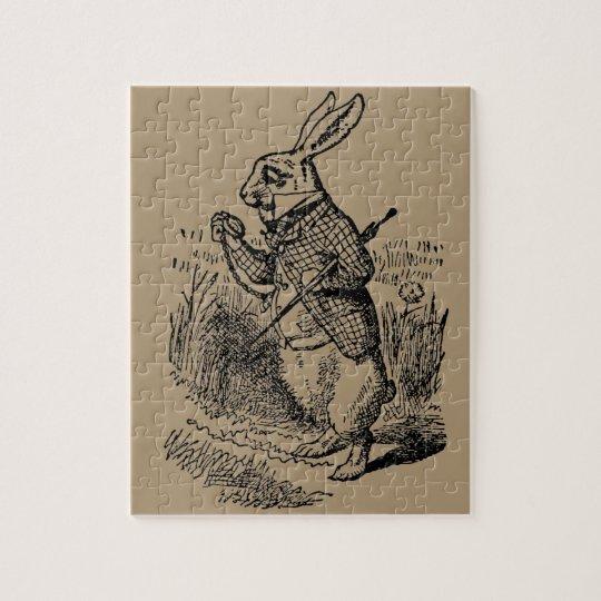 Vintage Alice in Wonderland the White Rabbit Watch Jigsaw Puzzle